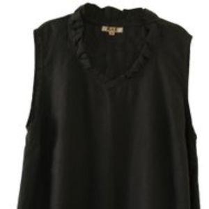 FLAX Black 100% Linen Sleeveless Top 3G  3X